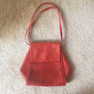 Donna Karan Red/orange leather purse